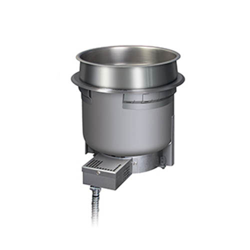 Hatco HWB-7QTD 120 7-qt Round Built-In Heated Well w/ Drain, 120 V