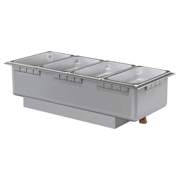 Hatco HWBH-43D 240 Heated Well w/ (4) Third Size Pan Capacity, Drain & High Watt, 240 V