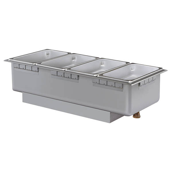 Hatco HWBH-43DA 120 Heated Well w/ (4) Third Size Pan Capacity, High Watt, Drain & Auto-Fill, 120 V