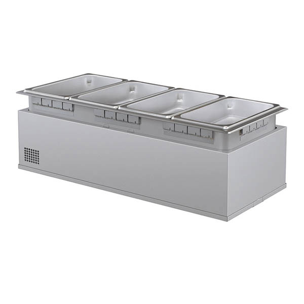 Hatco HWBHI-43 Built-In Heated Well w/ 4-Pan Capacity, Remote Thermostat, Stainless, 120 V