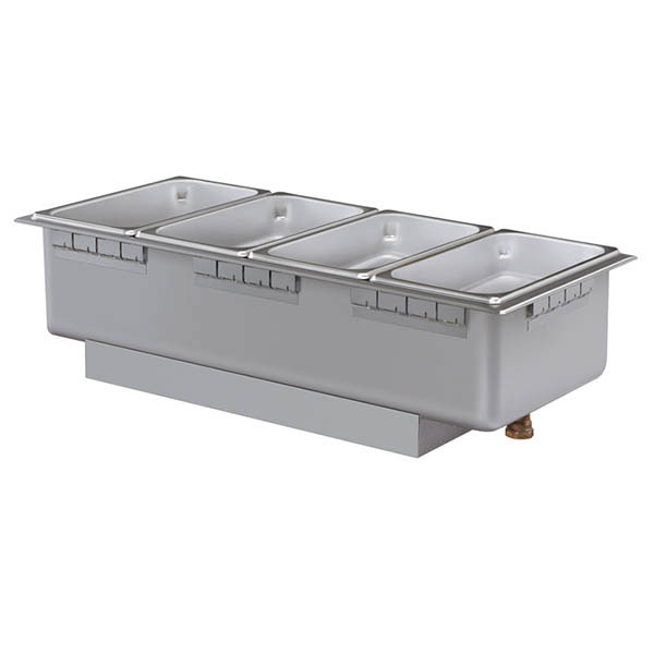 Hatco HWBHI-43D 208 Built-In Heated Well w/ Drain & 4-Pan Capacity, Remote Thermostat, 208 V