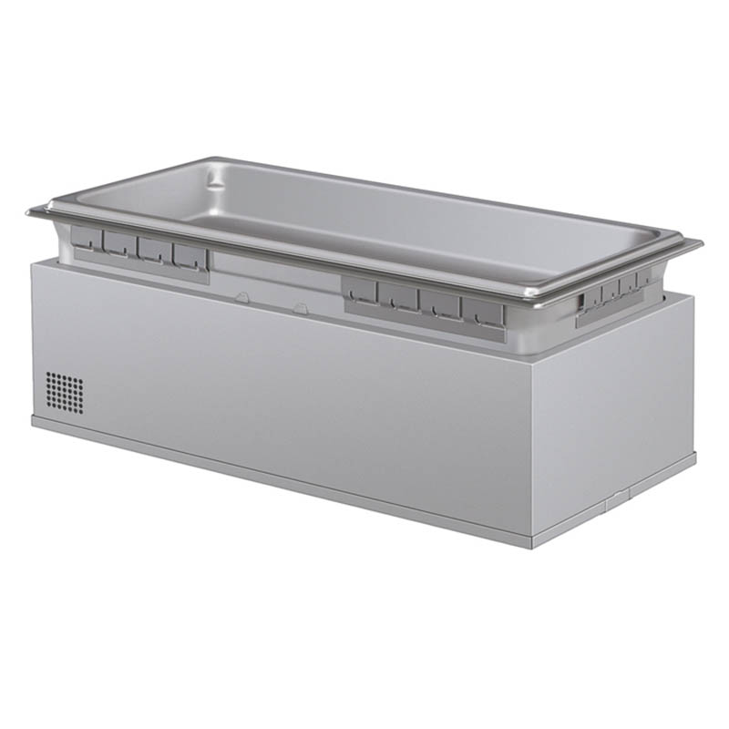 Hatco HWBHI-FULDA 120 Built-In Heated Well w/ Drain & 4-Pan Capacity, Auto Fill, 120 V