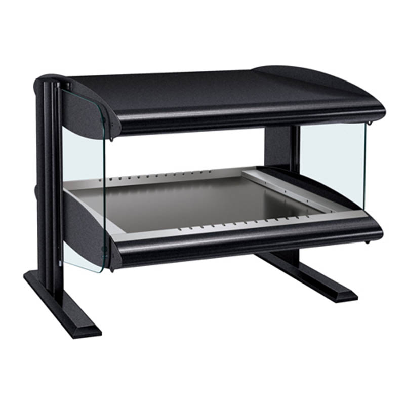 Hatco HZMH-24 Horizontal Merchandising Warmer, 1-Shelf & 2-Zone, 3-Divider Rod, LED, 750-watt