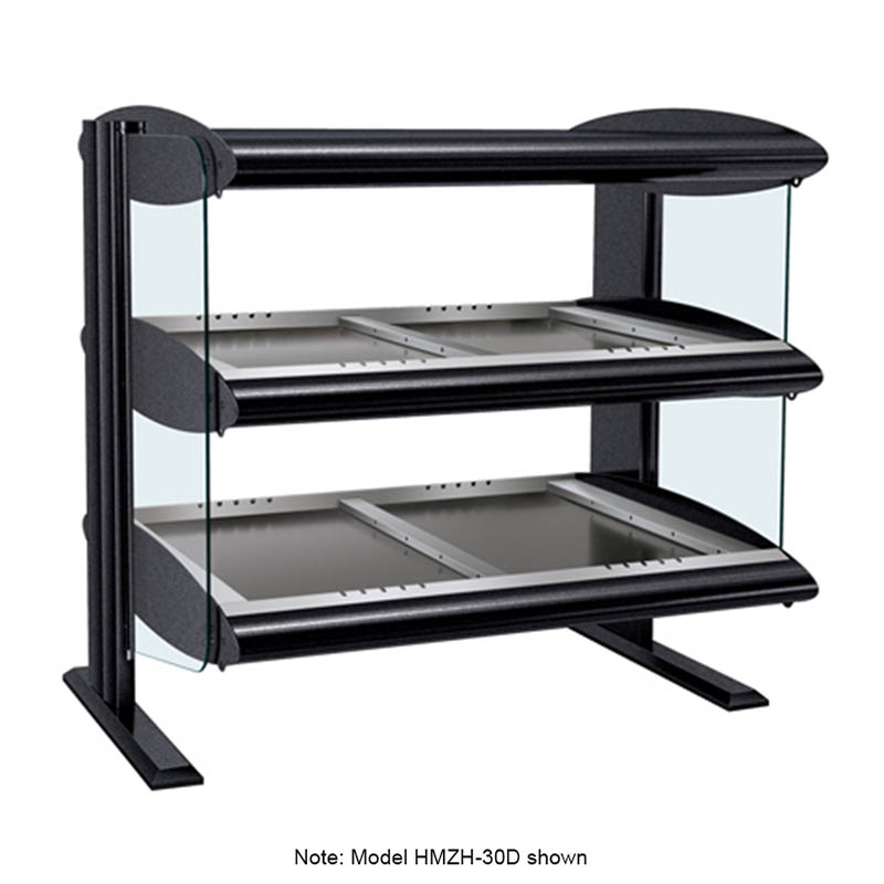 Hatco HZMH-36D Horizontal Merchandising Warmer, 2-Shelf & 8-Zone, 8-Divider Rod, LED, 2800-watt