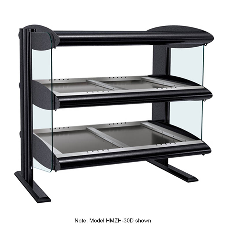 "Hatco HZMH-48D 51.9"" Self-Service Countertop Heated Display Shelf - (2) Shelves, 120v/208v/1ph"