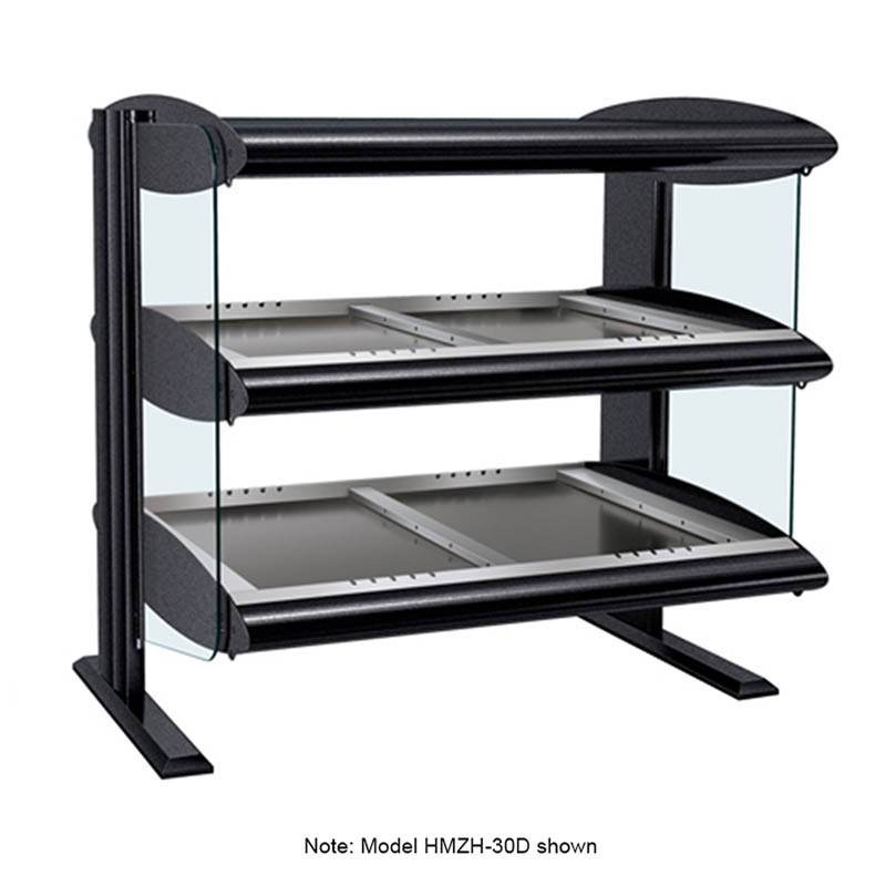 "Hatco HZMH-54D 57.9"" Self-Service Countertop Heated Display Shelf - (2) Shelves, 120v/208v/1ph"