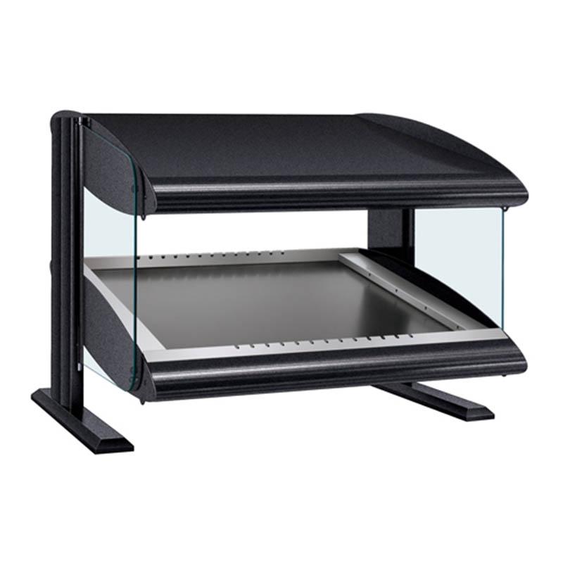 Hatco HZMS-24 Slanted Merchandising Warmer, 1-Shelf & 2-Zone, 3-Divider Rod, LED, 750-watt
