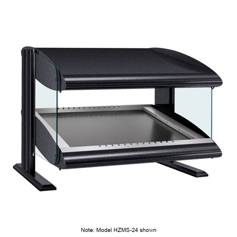 Hatco HZMS-30 Slanted Merchandising Warmer, 1-Shelf & 4-Zone, 4-Divider Rod, LED, 1350-watt