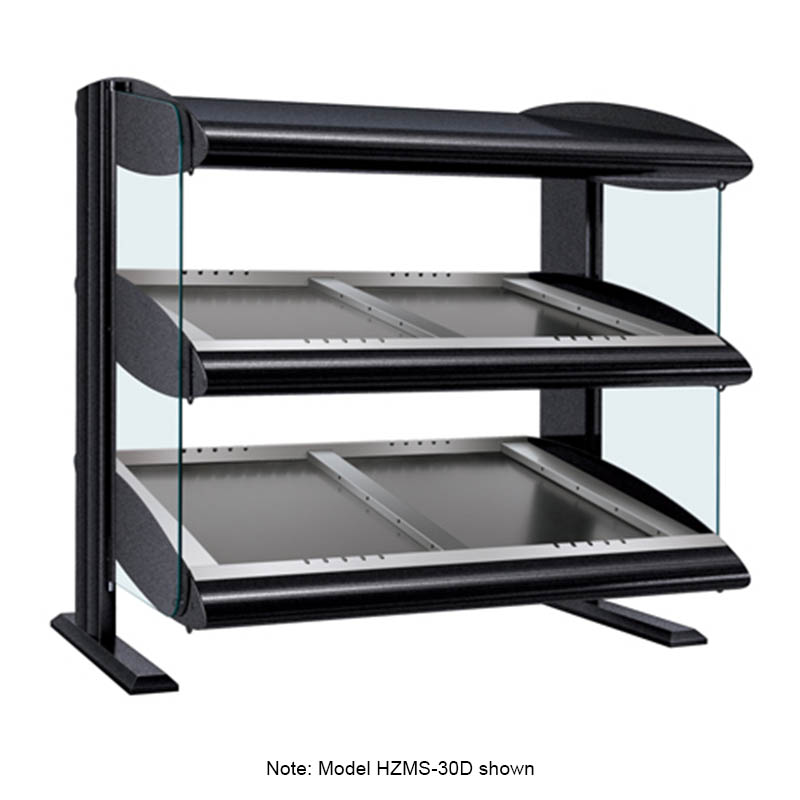 Hatco HZMS-42D Slanted Merchandising Warmer, 2-Shelf & 8-Zone, 12-Divider Rod, LED, 2900-watt