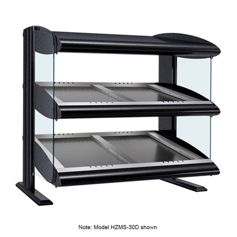 Hatco HZMS-48D Slanted Merchandising Warmer, 2-Shelf & 8-Zone, 12-Divider Rod, LED, 3000-watt