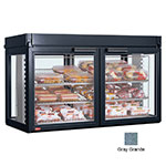 "Hatco LFST-48-1X 48.81"" Full-Service Countertop Heated Display Case - (3) Shelves, Gray, 208v/1ph"