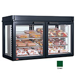 "Hatco LFST-48-1X 208 GREEN 48.81"" Full-Service Countertop Heated Display Case - (3) Shelves, Green, 208v/1ph"