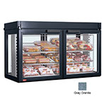 "Hatco LFST-48-1X 48.81"" Full-Service Countertop Heated Display Case - (3) Shelves, Gray, 240v/1ph"
