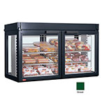 Hatco LFST-48-1X 240 GREEN Merchandising Cabinet w/ 2-Glass Rear Doors, Green, 240 V