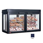 Hatco LFST-48-1X 240 NAVY Merchandising Cabinet w/ 2-Glass Rear Doors, Navy, 240 V
