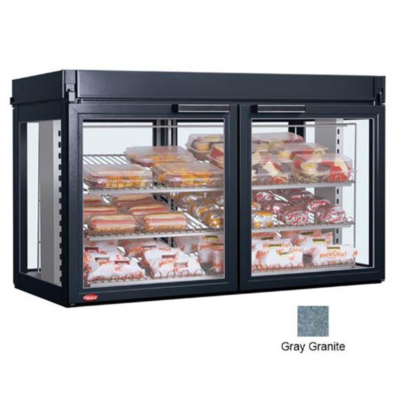 "Hatco LFST-48-2X 48.81"" Self-Service Countertop Heated Display Case - (3) Shelves, Gray, 208v/1ph"
