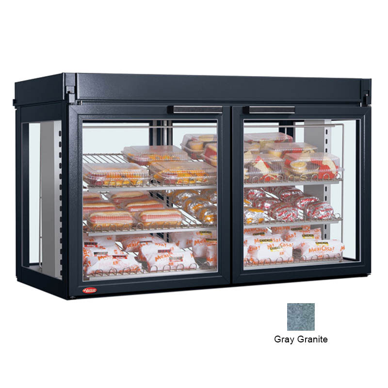 Hatco LFST-48-2X 240 GRAY Merchandising Cabinet w/ 4-Glass Rear Doors, Gray, 240 V