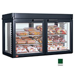 "Hatco LFST-48-2X 48.81"" Self-Service Countertop Heated Display Case - (3) Shelves, Green, 240v/1ph"