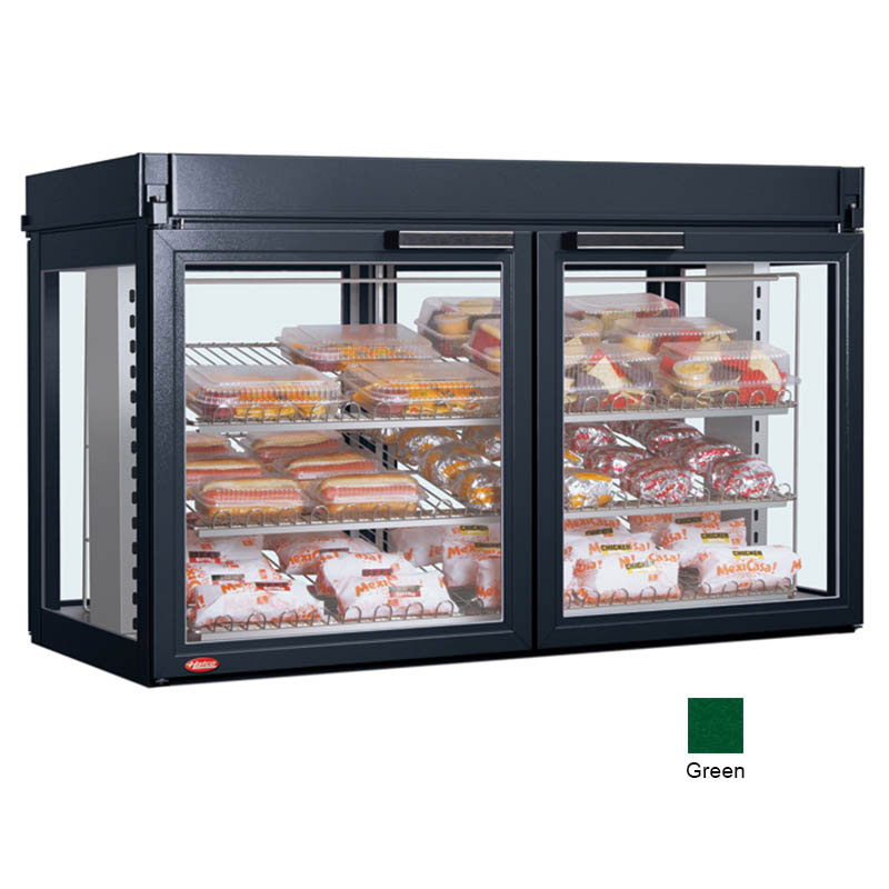 Hatco LFST-48-2X 240 GREEN Merchandising Cabinet w/ 4-Glass Rear Doors, Green, 240 V