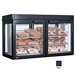 Hatco LFST-48-2X 240 NAVY Merchandising Cabinet w/ 4-Glass Rear Doors, Navy, 240 V