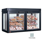Hatco LFST-48-2X 240 WHITE Merchandising Cabinet w/ 4-Glass Rear Doors, White Granite, 240 V