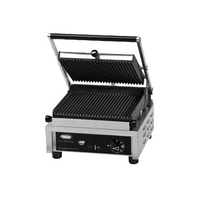 Hatco MCG10G Commercial Panini Press w/ Cast Iron Grooved Plates, 120v