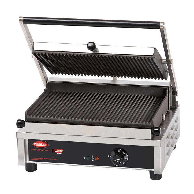 Hatco MCG14G Commercial Panini Press w/ Cast Iron Grooved Plates, 240v/1ph