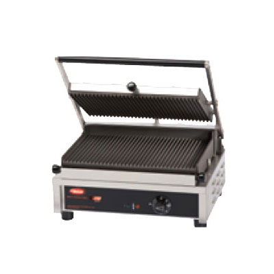 Hatco MCG14G-120-QS Commercial Panini Press w/ Cast Iron Grooved Plates, 120v