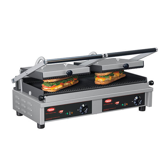 Hatco MCG20G-240 Commercial Panini Press w/ Cast Iron Grooved Plates, 240v/1ph