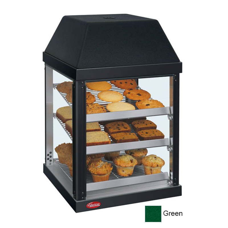 Hatco MDW-1X 120 GREEN Mini Display Warmer w/ Adjustable Shelves, Hunter Green, 120 V