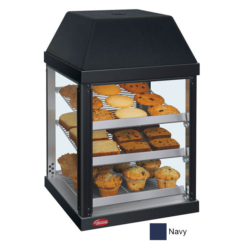 Hatco MDW-1X 120 NAVY Mini Display Warmer w/ Adjustable Shelves, Navy, 120 V