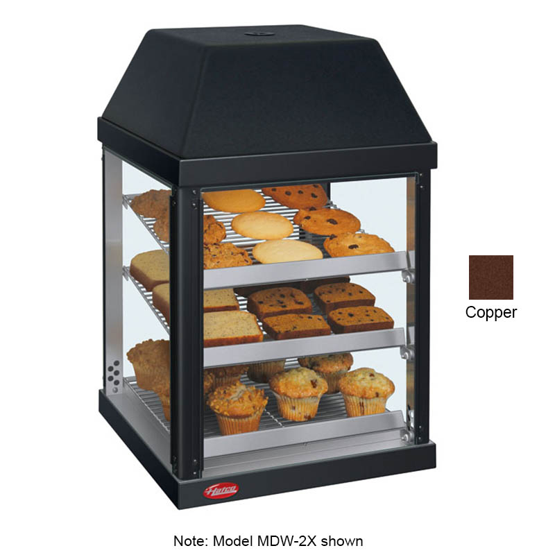 Hatco MDW-2X 120 COPPER Pass-Thru Mini Display Warmer w/ Adjustable Shelves, Copper, 120 V