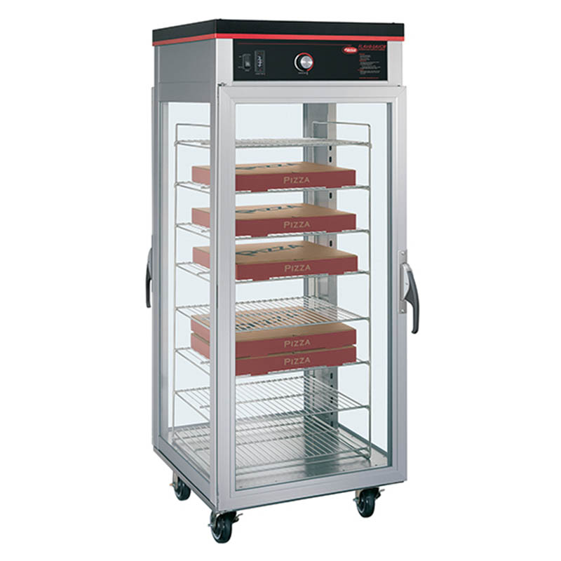 Hatco PFST-2X Pass Thru Tall Dry Holding Cabinet, 2-Doors & 8-Shelf Rack