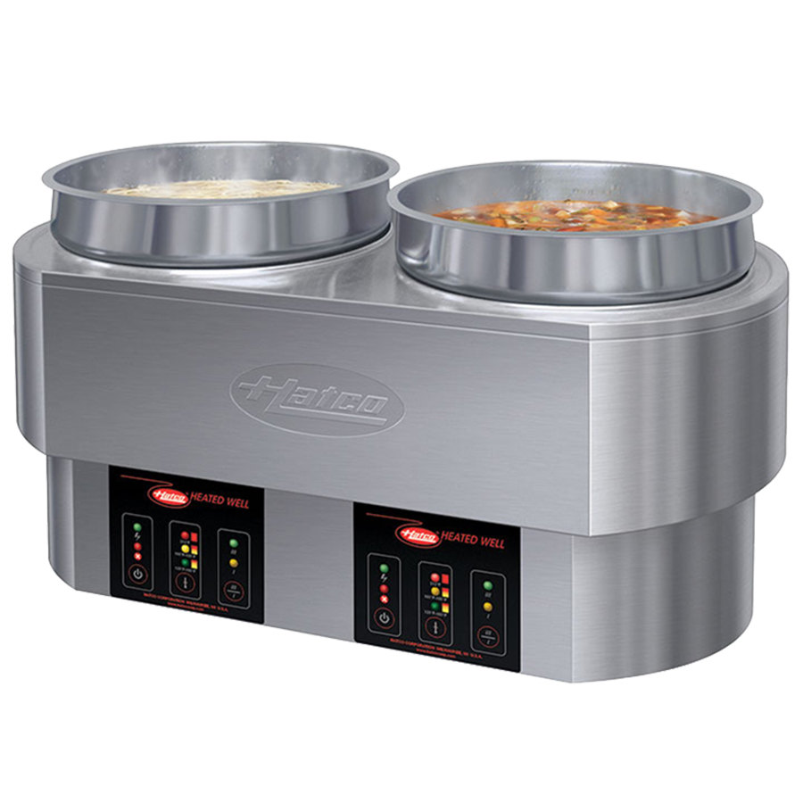 Hatco RHW-2 11-qt Double Countertop Food Warmer/Cooker - Thermostatic, Stainless, 208-240v/1ph
