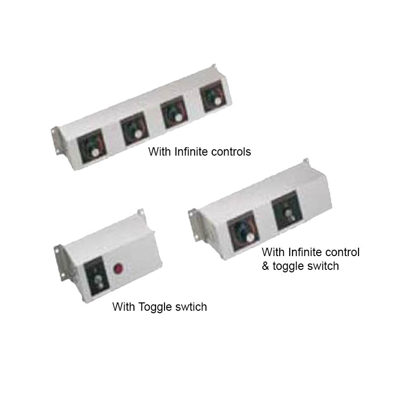 Hatco RMB-14D 14-in Remote Control Box w/ 4-Infinite Switches for 120 V