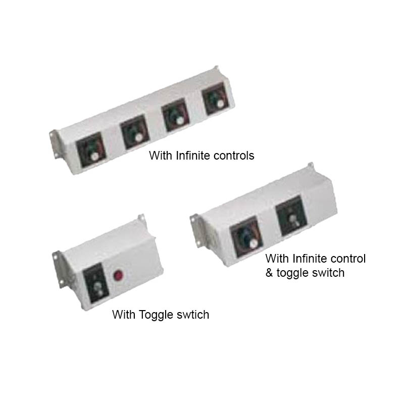 "Hatco RMB14W Remote Control Enclosure w/ 2"" Finite Switches & 1-Toggle Switch"
