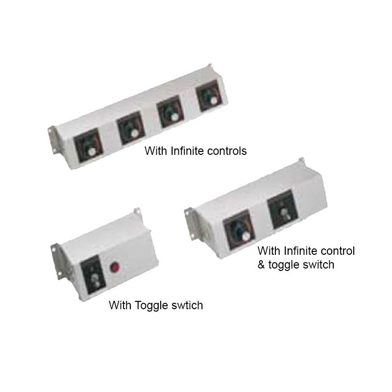 Hatco RMB-16G 16-in Remote Control Box, 3-Toggle & 2-Infinite Switches For 240 V