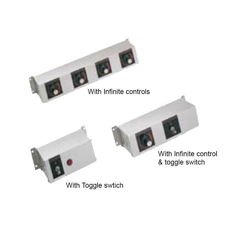 "Hatco RMB-3H 5.5"" 1-Light Remote Control Box w/ 1-Toggle Switch for 240 V"