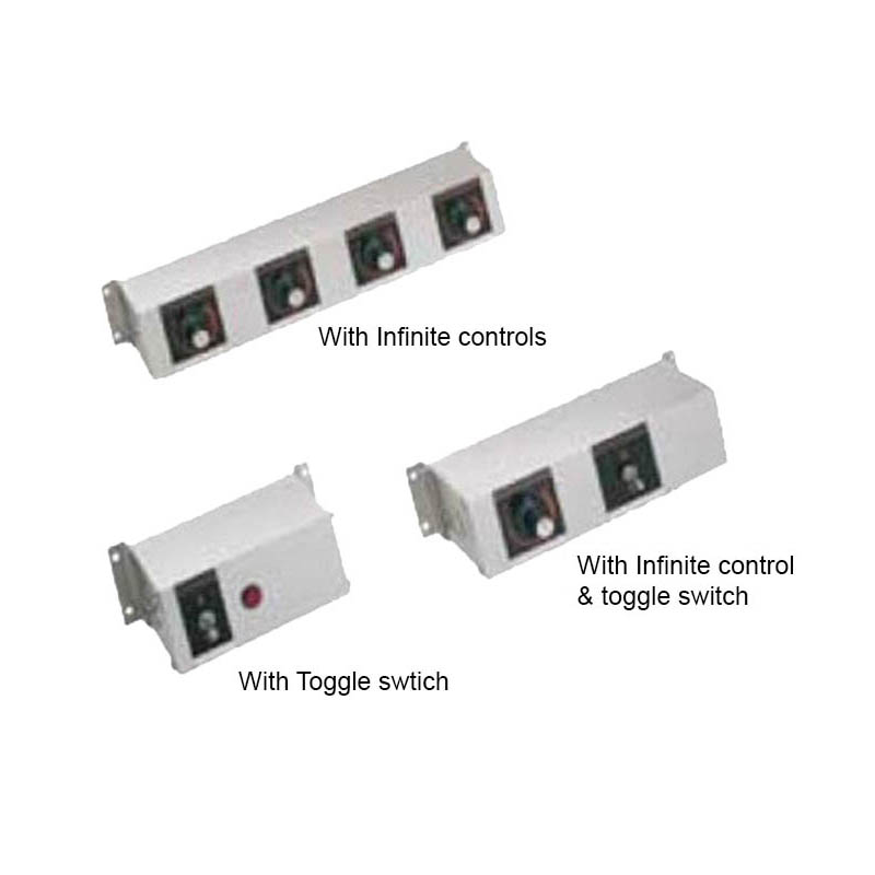 Hatco RMB-7E 9-in Remote Control Box w/ 4-Toggle Switches For 120, 208, & 240 V