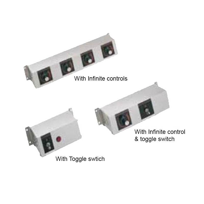 "Hatco RMB-7P 9"" 1-Light Remote Control, Toggle & Infinite Switch for 208 V"