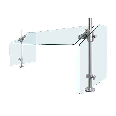 "Hatco SGCP-30 30"" Table-Mounted Sneeze Guard - Corner Post, Aluminum Posts"