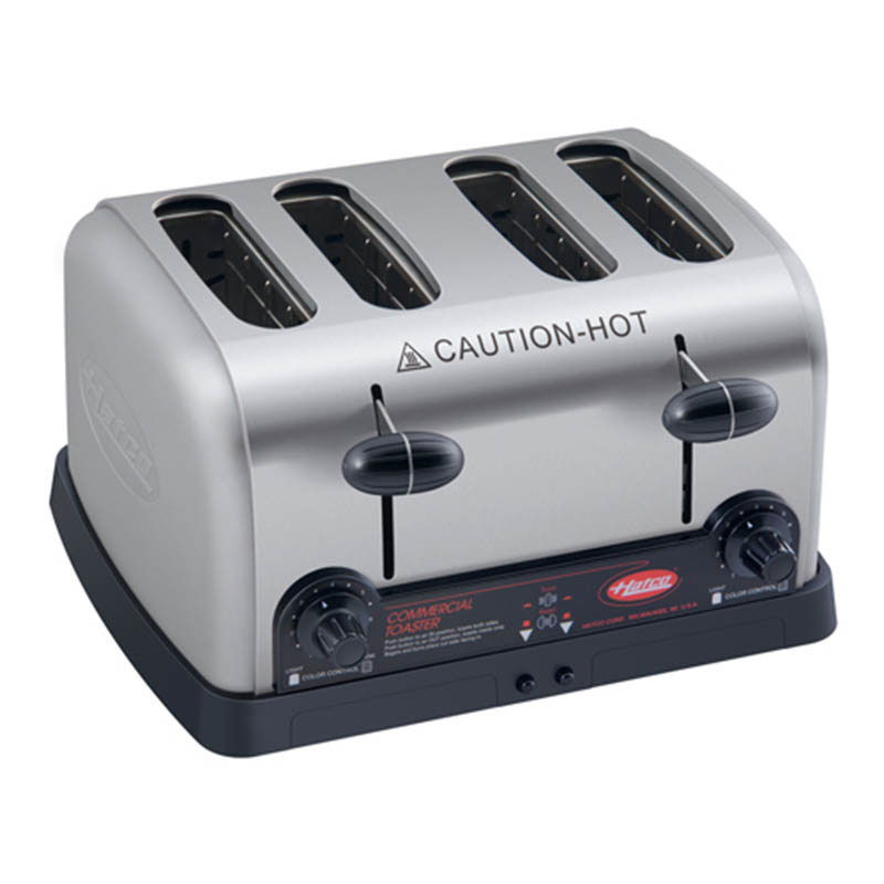 Hatco TPT-208-QS Pop-Up Toaster w/ (4) Slots & Removable Crumb Tray, Stainless