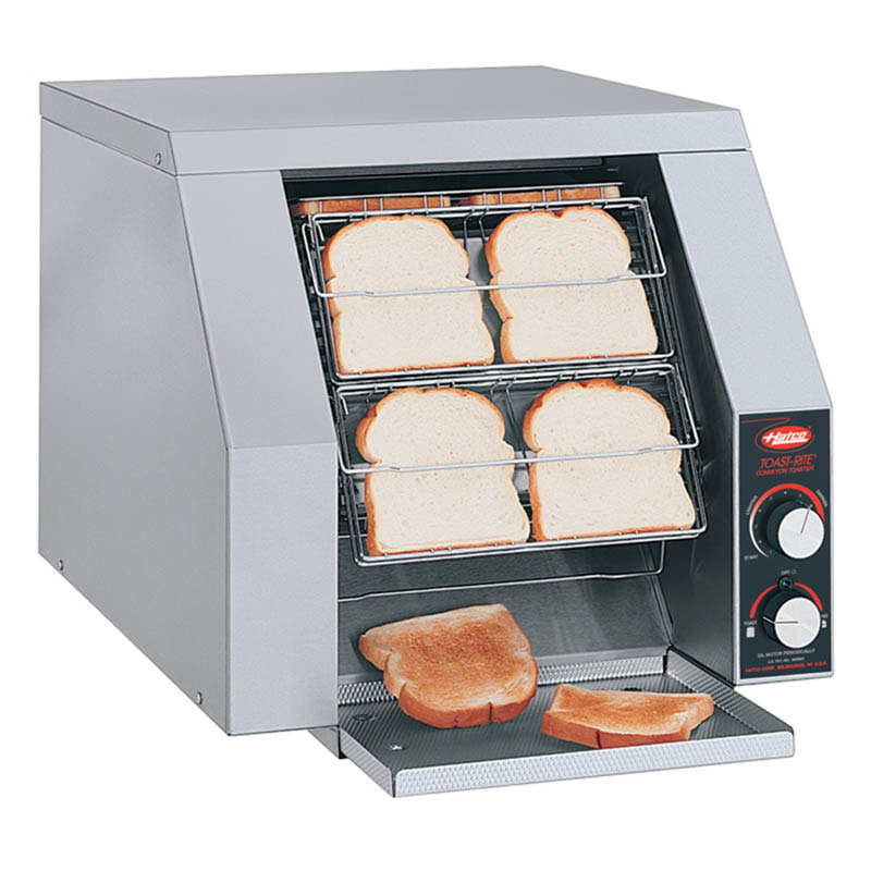 Hatco TRH-50 Horizontal Toaster For 8-Buns Or Slices Per Minute, 120 V