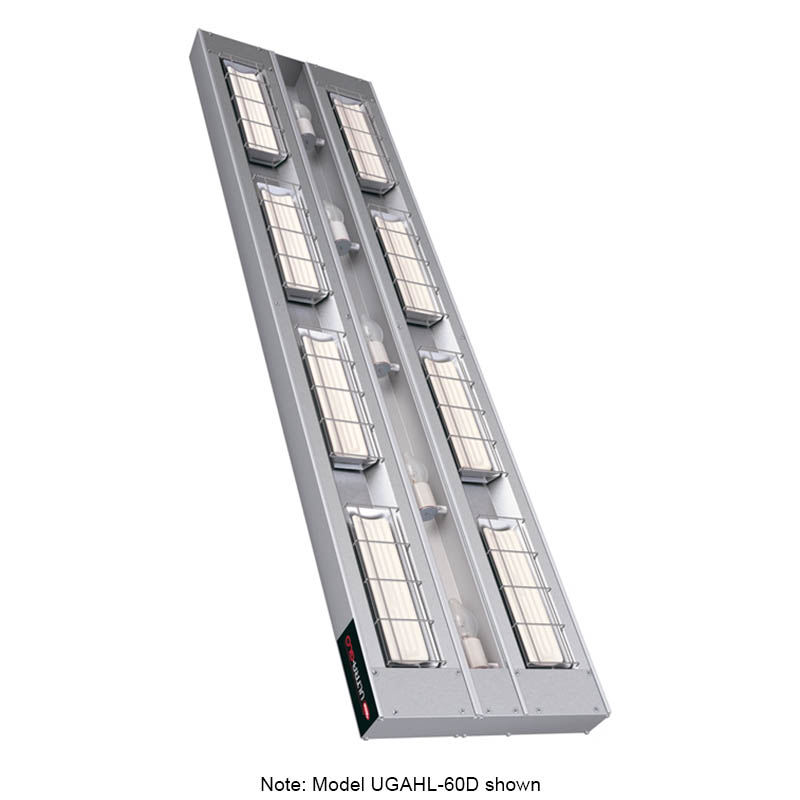 "Hatco UGAHL-18D3 120 18"" Foodwarmer, 2-Ceramic w/ 3"" Space, High Watt, Light, 120 V"
