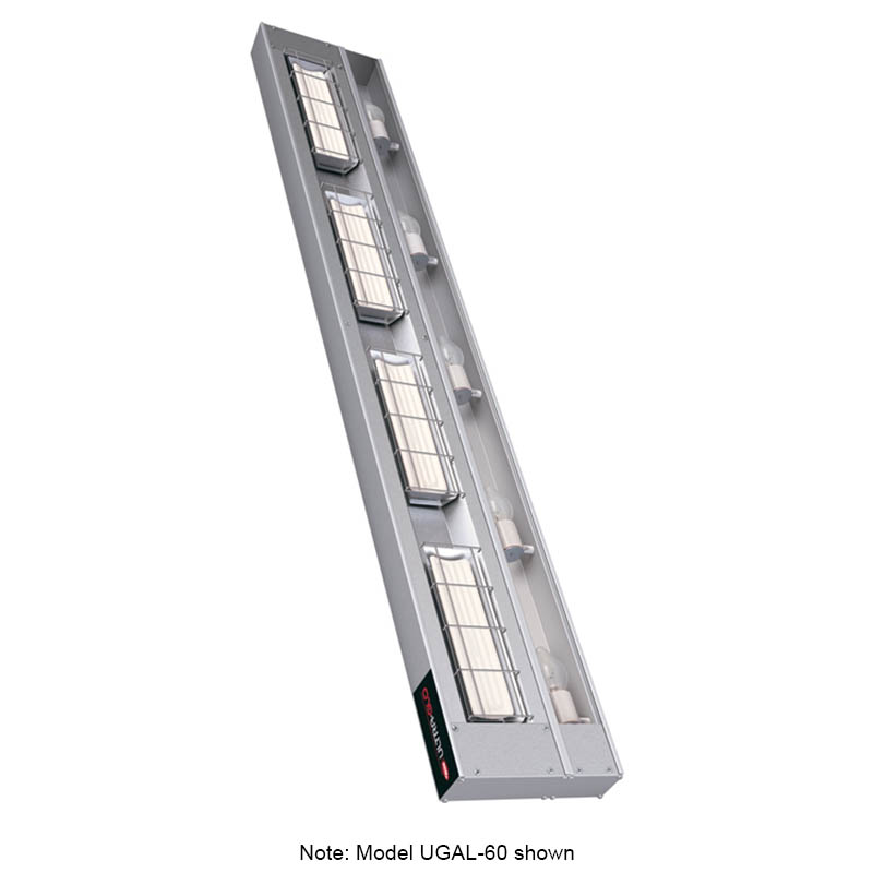 "Hatco UGAL-24 208 24"" Foodwarmer w/ 1-Ceramic Strip & Lights, 208 V"