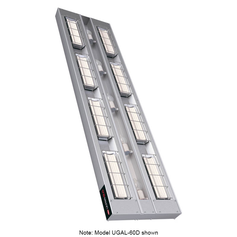 """Hatco UGAL-24D3 240 24"""" Foodwarmer, 2-Ceramic w/ 3"""" Space & Lights, 240 V"""