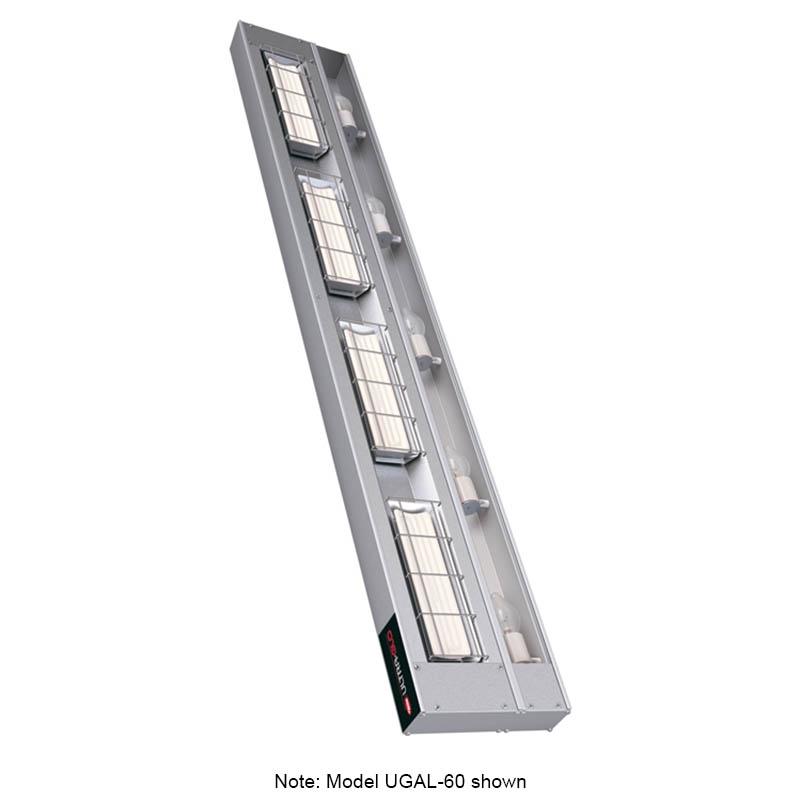 "Hatco UGAL-60 208 60"" Foodwarmer w/ 1-Ceramic Strip & Lights, 208 V"