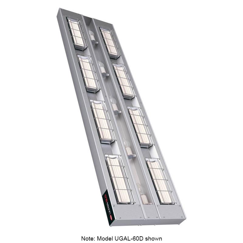 """Hatco UGAL-72D6 240 72"""" Foodwarmer, 2-Ceramic w/ 6"""" Space & Lights, 240 V"""