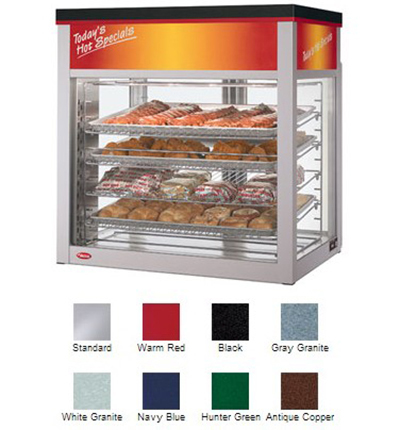 Hatco WFST-1X Flav-R-Savor Large Capacity Display Cabinet, 4 Racks, 2 Doors, 1790 W