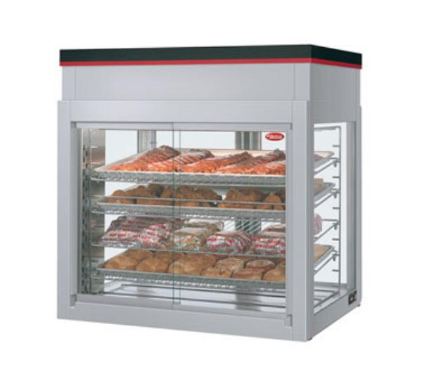 Hatco WFST-2X Flav-R-Savor Large Capacity Display Cabinet, 4 Racks, 4 Doors, 1790 W